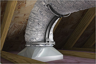FlexRight increases airflow efficiency for residential installations.